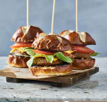 The Table at Inner Banks, Dijon Mustard Burger